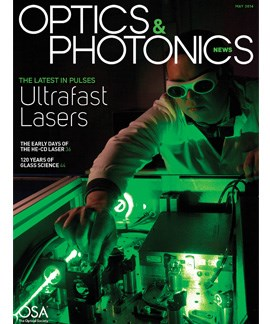 Researcher operating an ultrafast laser delivering 27 fs optical pulses at the Photonics Laboratory, Universitat Jaume I, Spain. Photo courtesy of GROC/UJI/Àlex Pérez