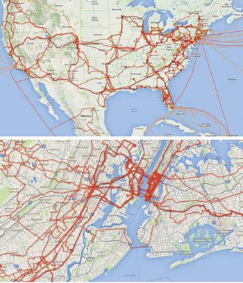 Optical Networks Come Of Age Optics Photonics News - Level-3-us-fiber-map
