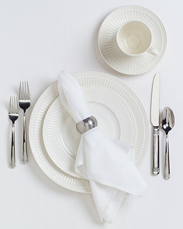 clean and proper place setting