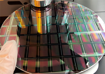 photo of micro-led wafer