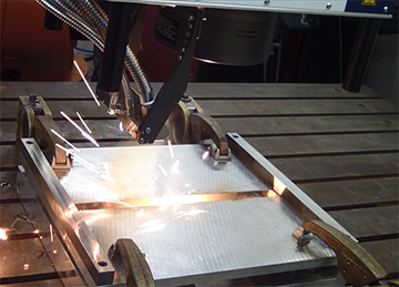 laser welding two sheets of metal