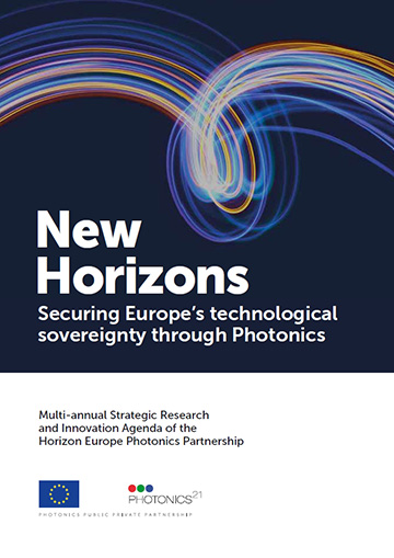Cover of December 2020 Photonics21 roadmap