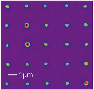 micrograph of NV center array
