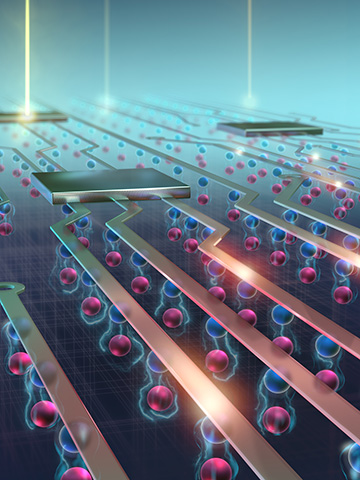 artist's rendering of excitonic circuit
