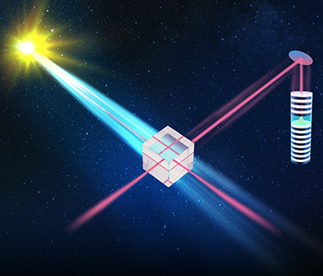 Artist conception of interference with solar photons