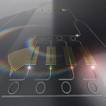 Artist view of photonic tensor core