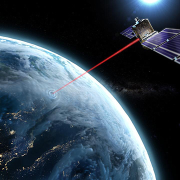 laser beam to satellite