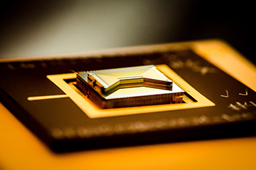 photo of ion-trap chip