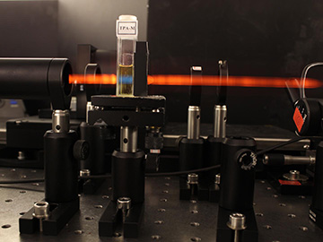 photo of laser in lab