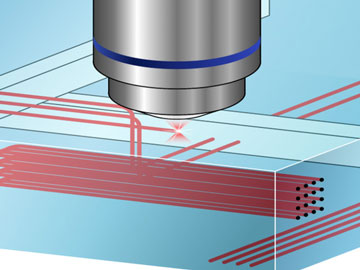 Laser Micromachining for Efficient, Biocompatible Waveguides