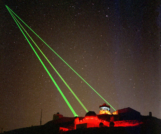 Lasers Pierce the Sky