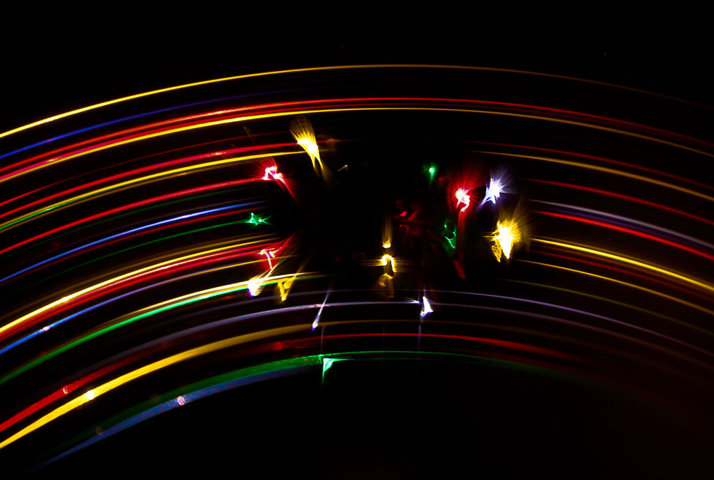 Diffracted Christmas lights