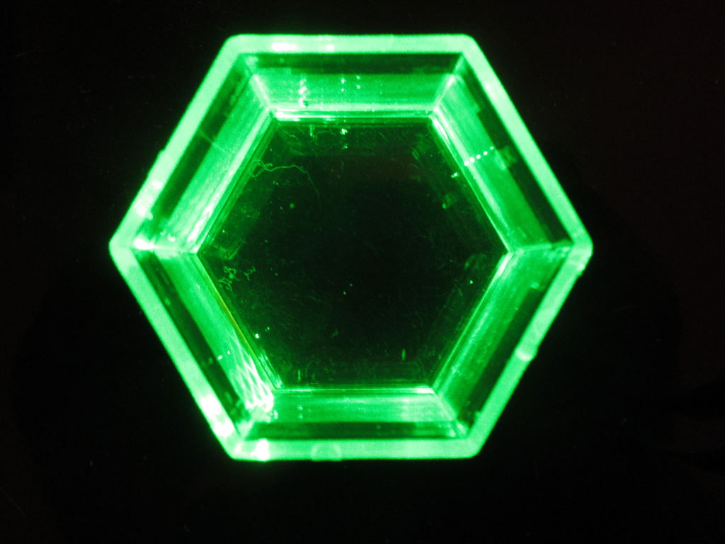Light in a hexagonal prism
