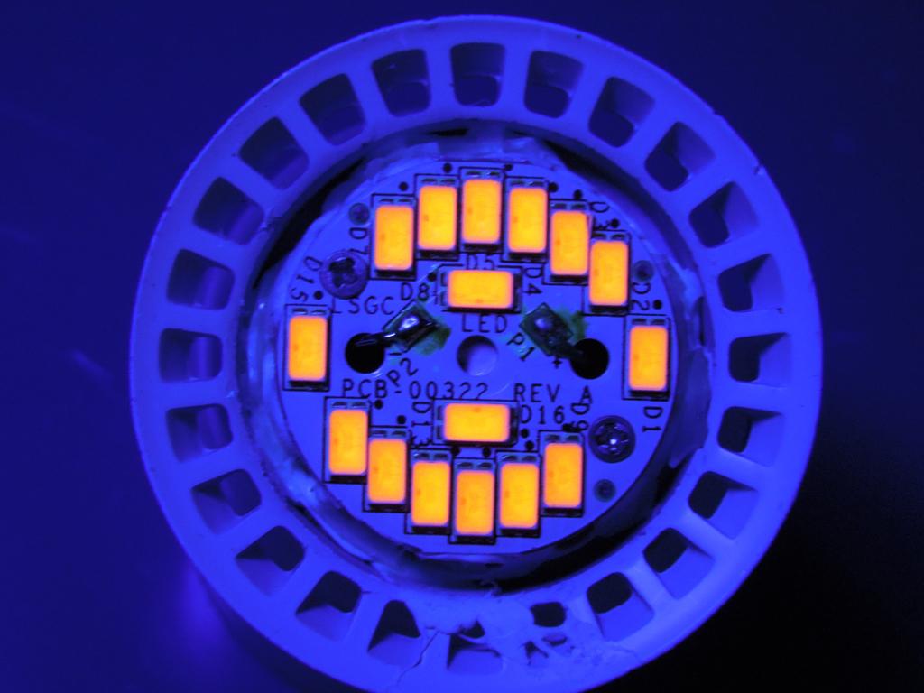 LEDs under UV