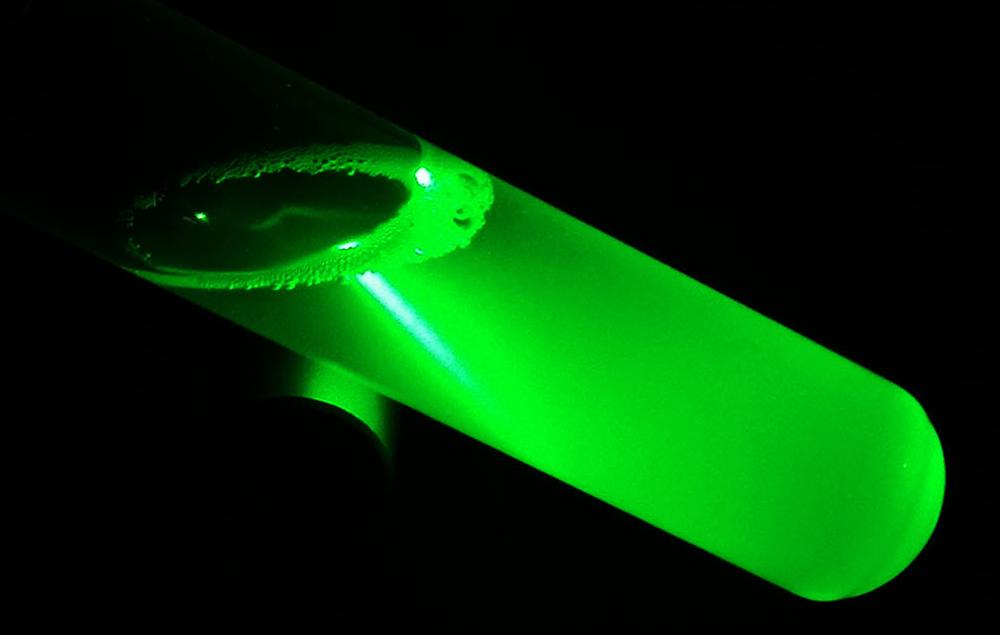 Traveling laser beam