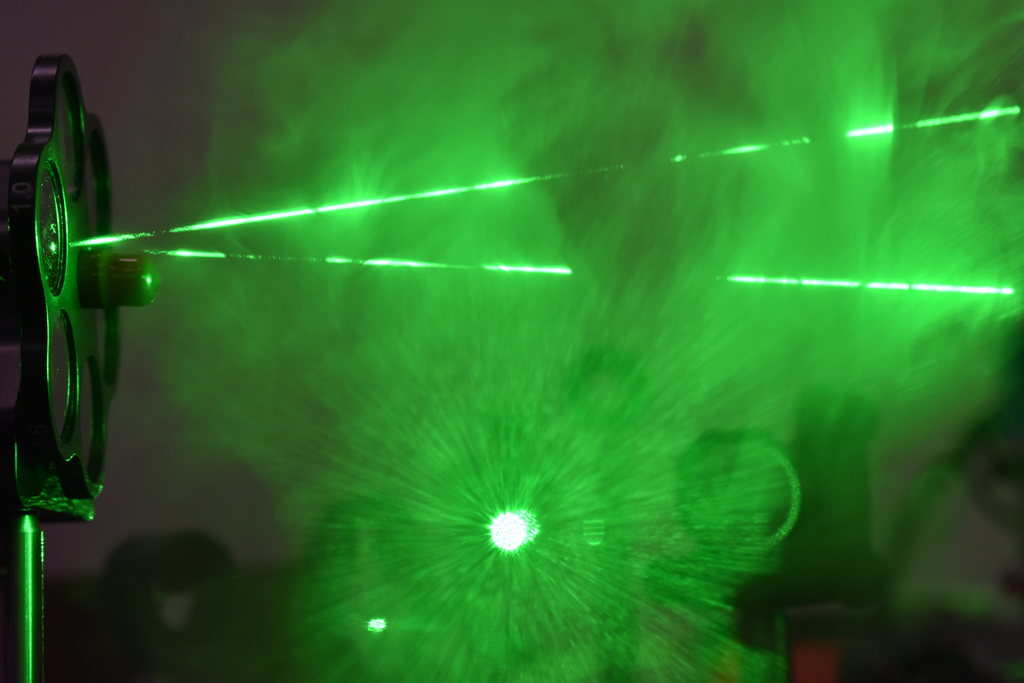 Visualizing laser path with homemade clouds